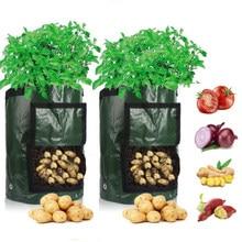 Batata crescer saco pe vegetal cebola planta saco com alça engrossado jardim cenoura taro amendoim crescente saco