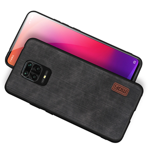 Image 4 - MOFi For redmi note 9s case for Mi Redmi Note 9 Pro max Cover Housing Silicone  shockproof jeans PU leather Black TPU Dustproof