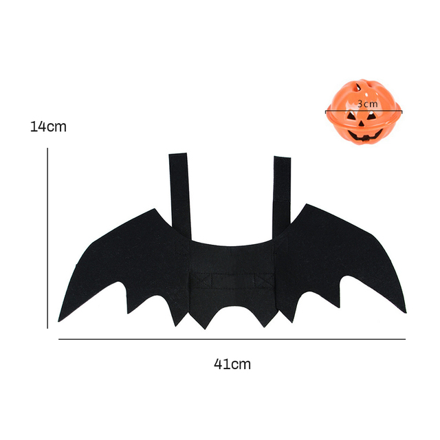 Halloween Pet Dog Costumes Bat Wings Vampire Black Cute Dress Cat Costume Pet Cosplay Clothing Cat Wings Halloween Costume 4