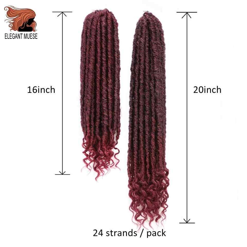 Элегантные Музы синтетические 24 пряди 16 дюймов и 20 дюймов богиня искусственные Локи Омбре серый косичка волосы мягкие предварительно петлевые крючком косички