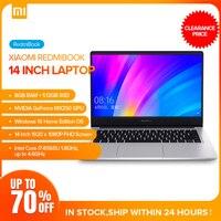 Xiaomi Redmibook 14 Laptop Intel Core i7 8565U Windows 10 NVIDIA GeForce MX250 8GB 512GB BT5.0 Ultra Thin Notebook 1920 x 1080