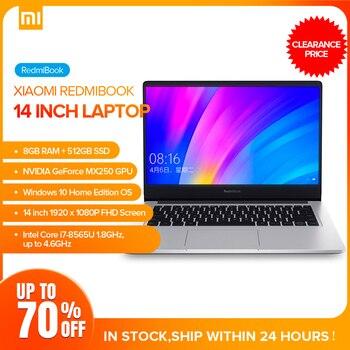Xiaomi Redmibook 14 Laptop Intel Core I7-8565U Windows 10 NVIDIA GeForce MX250 8GB 512GB BT5.0 Ultra Thin Notebook 1920 X 1080