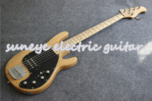 New Arrival Natural Wood Electric Bass Guitar 5 String Music Man String Ray Style Bass Guitar Custom Guitar Kit Available new china firehawk oem shop electric bass guitar 5 string bass active neck through body color can be changed ems free shipping
