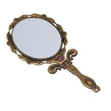 Makeup Mirror Mirror Makeup Spiegel DIY Metal Foldable Mirror Women Make Up Use Mirror Mini Small Size Mirror Bronze Color