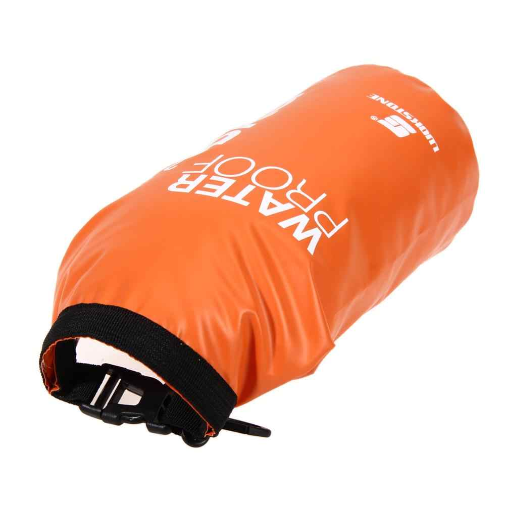 2L Ransel Tahan Air Tas Tahan Air Tas Ultralight PVC Tas Kantong Arung Jeram Berkemah Mendaki Renang Luar Ruangan Alat Perjalanan