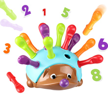 Montessori educational toys fight to insert hedgehog child ability coordination ability to cultivate  toys Christmas gift