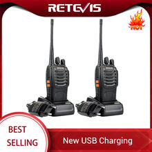 Retevis H777 Professionele Walkie Talkie 2 Pcs 3W Uhf Handige Twee-weg Radio Transceiver Usb Oplaadbare Walkie-talkie Communicator(China)