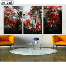 5d square diamond painting tree full autumn scenery embroidery crystal mosaic picture decoration