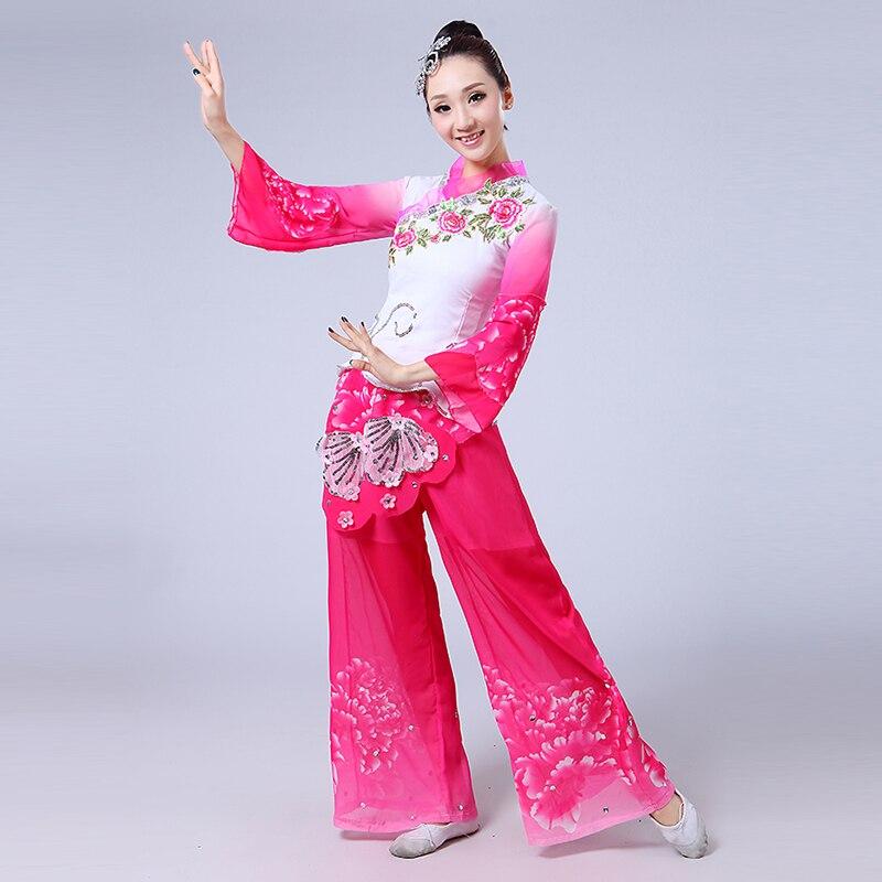 Бренд Yangge танцевальный костюм женский 2019 новый синий и белый фарфор Национальный классический веер для танцевального костюма костюм