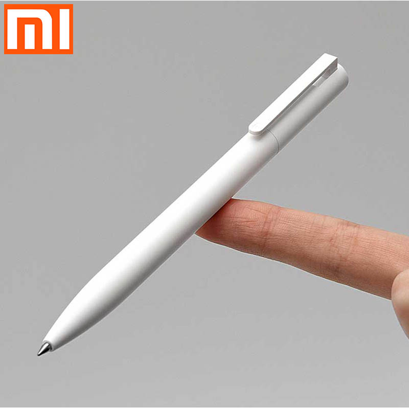 Оригинальная гелевая ручка xiaomi, 10 стиков, мягкая/Легкая ручка для письма/Прессованный сердечник/вода не так легко лизать