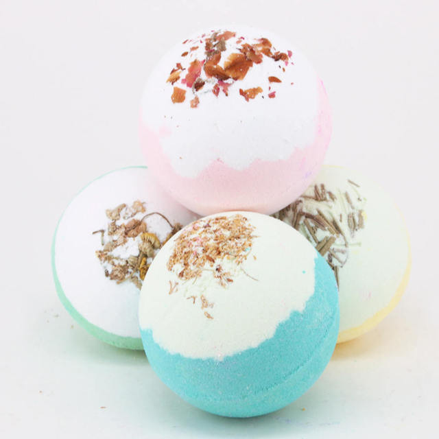 Bath Accessories 1PC 100g Bath Ball Natural Salt Body Skin Care Bubble Bombs Skin Exfoliati Shower Salts 5