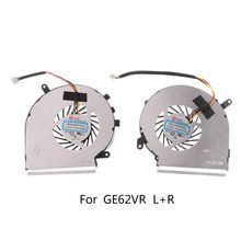 1Pair 4Pins Cooler Cooling Fan for MSI GE62VR GP62MVR GL62M Laptop CPU GPU ssea new cpu fan for msi gs70 gs72 ms 1771 ms 1773 gtx 765m laptop cpu cooling fan paad06015sl n285