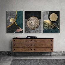 Abstract Golden Black Wood Texture Canvas Painting Posters and Prints Modern Nordic Wall Art Pictures for Living Room Home Decor