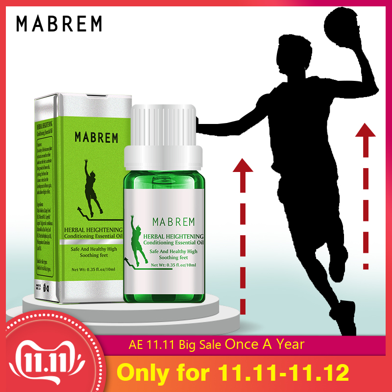 MABREM Height Increasing Oil Medicine Body Grow Taller Essential Oil Foot Health Care Products Promot Bone Growth