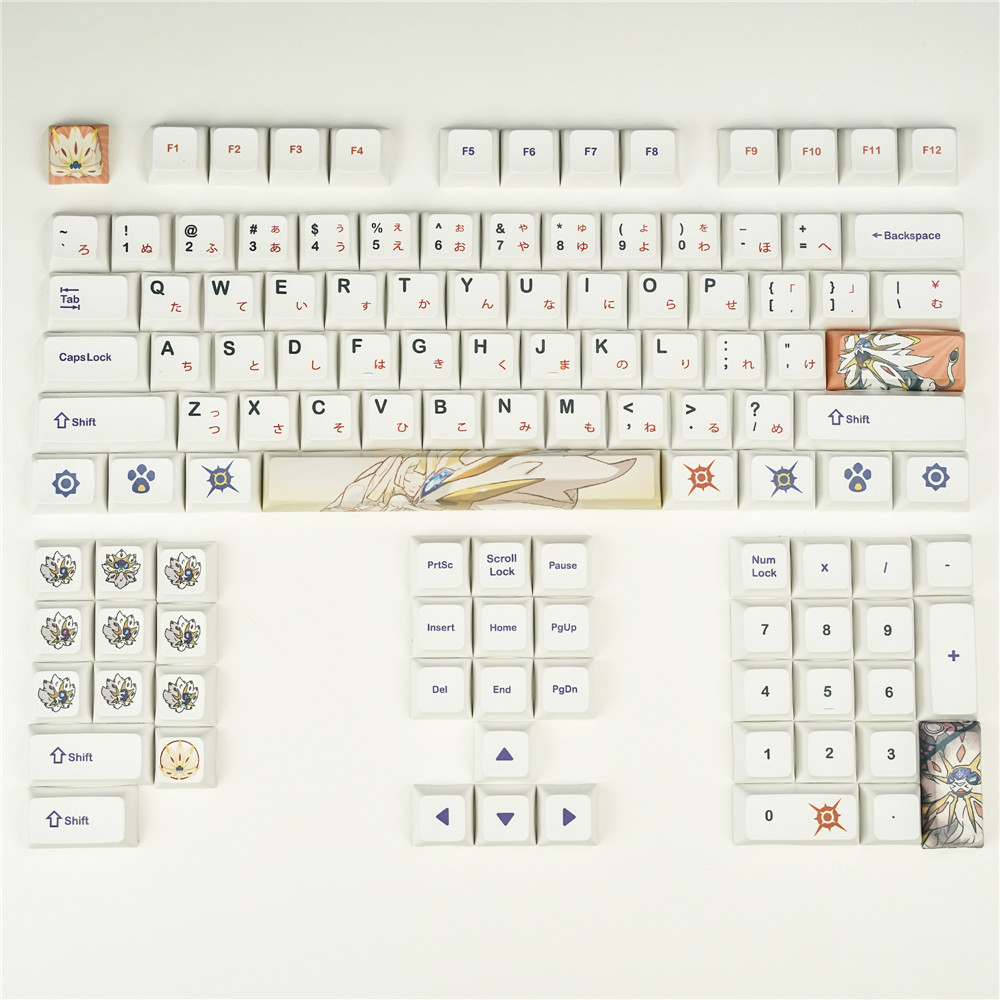 Mechanical Keyboard <font><b>Keycaps</b></font> DYE Sublimation <font><b>Keycaps</b></font> XDA Profile PBT Pokemon <font><b>Keycaps</b></font> Japanese Etymon For GH6064 <font><b>68</b></font> 78 96 104 108 image