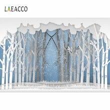 Laeacco фоны для фотосъемки с изображением мультяшных зимних