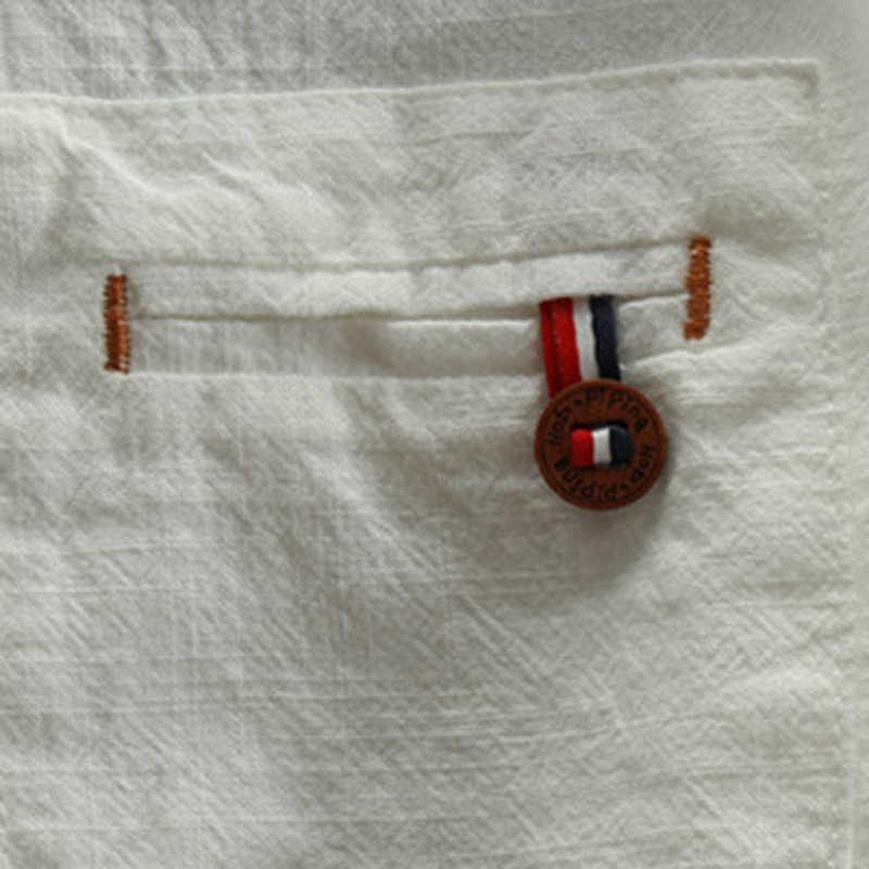 2020 Primavera E L'estate Camicia di Lino Mezza Manica Degli Uomini di Casual Diritto Allentato Cotone Camicia di Vestito per Gli Uomini Vintage Streetwear 5XL A738