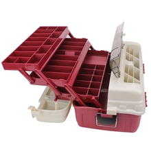 4 Layer Big Fishing Tackle Box Portable Organizer Case Tools with Handle
