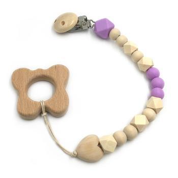 wooden purple butterfly toy