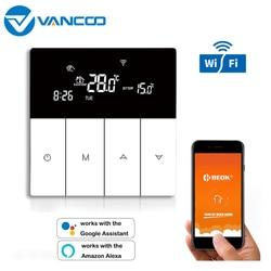 Vancoo wifi termostato inteligente 220v termostato digital calefaccion controlador de temperatura termorregulador para piso quente