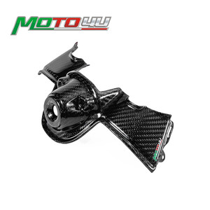 Real Carbon Fiber Key Cover Hole Guard Ignition Case Dash Panel Protector For Ducati Panigale V4 / V4S 2018 2019