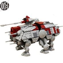 NEW 556pcs Star Series Toys Walking AT-TE Simulation Figures Model MOC Building Blocks Bricks Creative Gift for Kids To
