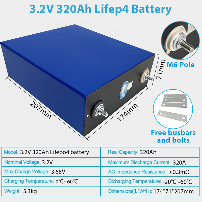 4 Stuks Grade A 3.2V 300AH LiFePo4 Batterij Cellen Diy 12V 24V 48V 320ah Oplaadbare Batterij pack Lithium-ijzerfosfaat Eu Geen Belasting 3