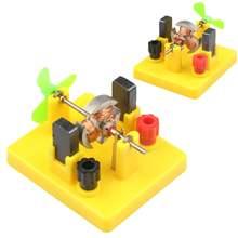 Маленькая модель мотора с постоянным током и вентилятором эксперимент