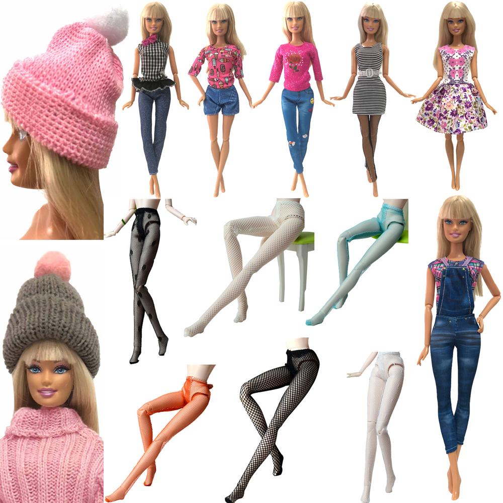 NK  2020 Mixed One Set Doll Noble Suit/ Mesh Socks Sex Lace Doll Accessories Fashion Skirt  For Barbie Doll Handmade Clothes JJ