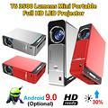 T6 портативный Full HD светодиодный проектор 4K 3500 люмен 1080P домашний кинотеатр проектор Android 9 0 wifi та же версия экрана видео проектор