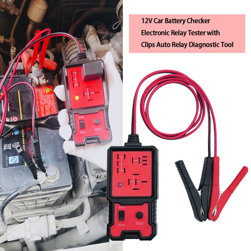 12V <font><b>Car</b></font> Battery Checker <font><b>Electronic</b></font> Relay Tester with Clips Auto Relay Diagnostic <font><b>Tool</b></font> image
