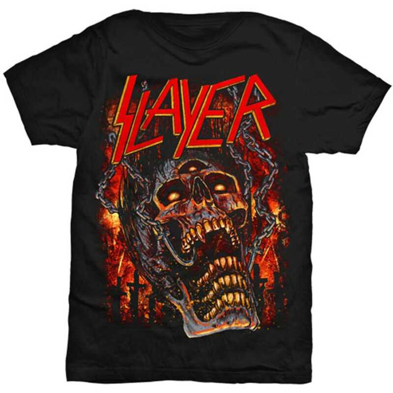 Slayer inferno crânio tom araya thrash metal 1 camiseta masculino unissex