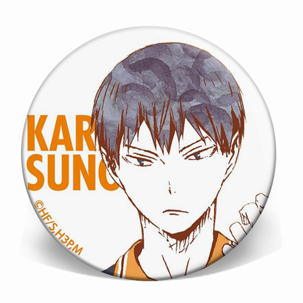 VASTAIR Haikyuu!!Anime Characters Print Brooches Badge Button Pins for Backpack,Jeans,Caps,Guitar Belt Fans Collection