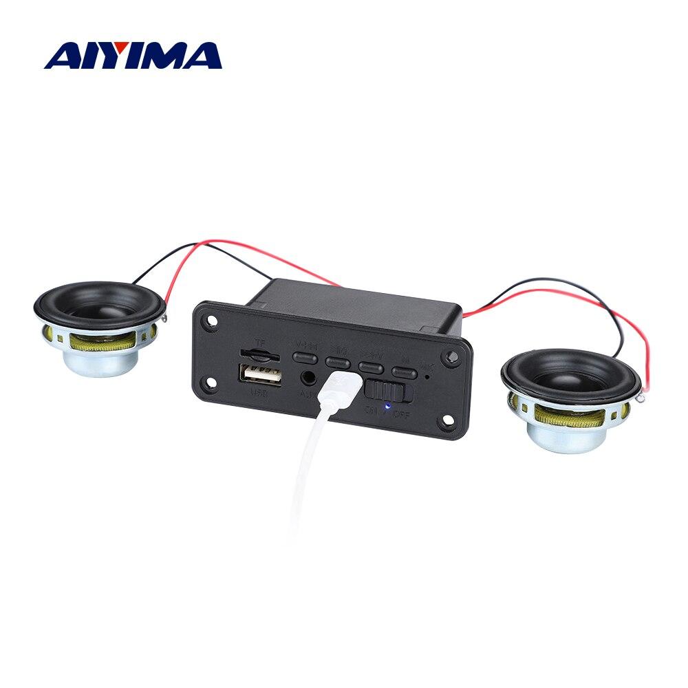 AIYIMA Bluetooth 5.0 Power Amplifier MP3 Decoder Support USB TF Radio AUX Decoding Mini Audio Portable Bluetooth Speaker