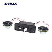 AIYIMA-miniamplificador de potencia con Bluetooth 5,0, decodificador MP3, compatible con USB, TF, Radio, AUX, decodificación, altavoz portátil