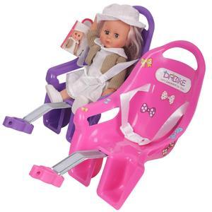 Детское сидение для мотоцикла пластик/ПВХ пост Кукла сиденье с держателем для детей велосипед и наклейки детский велосипед аксессуары набо...