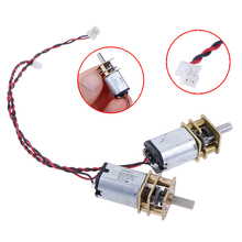 1pc DC 3V-6V 5V 55rpm Reduction Gearbox Slow Speed Micro N20 Full Metal Gear Motor