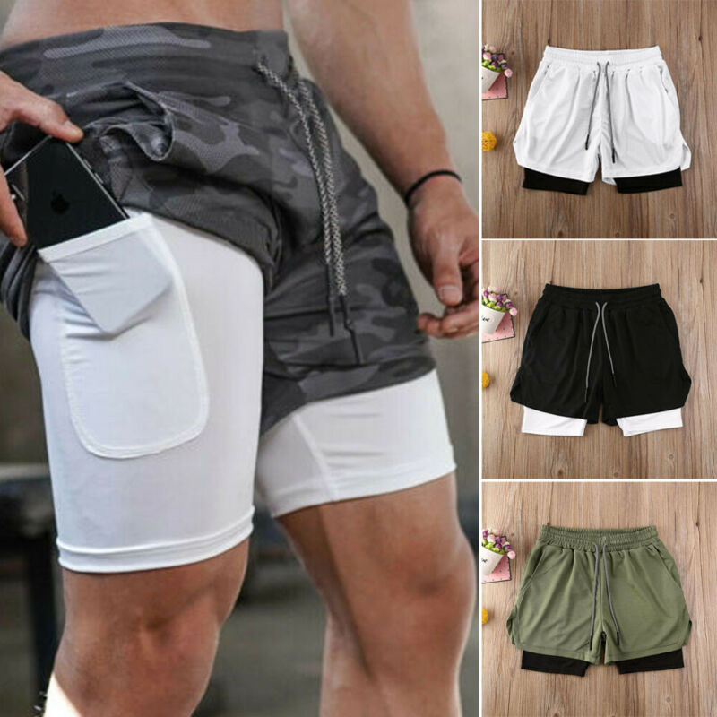 Gothic Summer Men Quick-dry Sports Gym Running Shorts Breathable Fitness Bottoms With Pockets Casual Gym Shorts Men Clothing