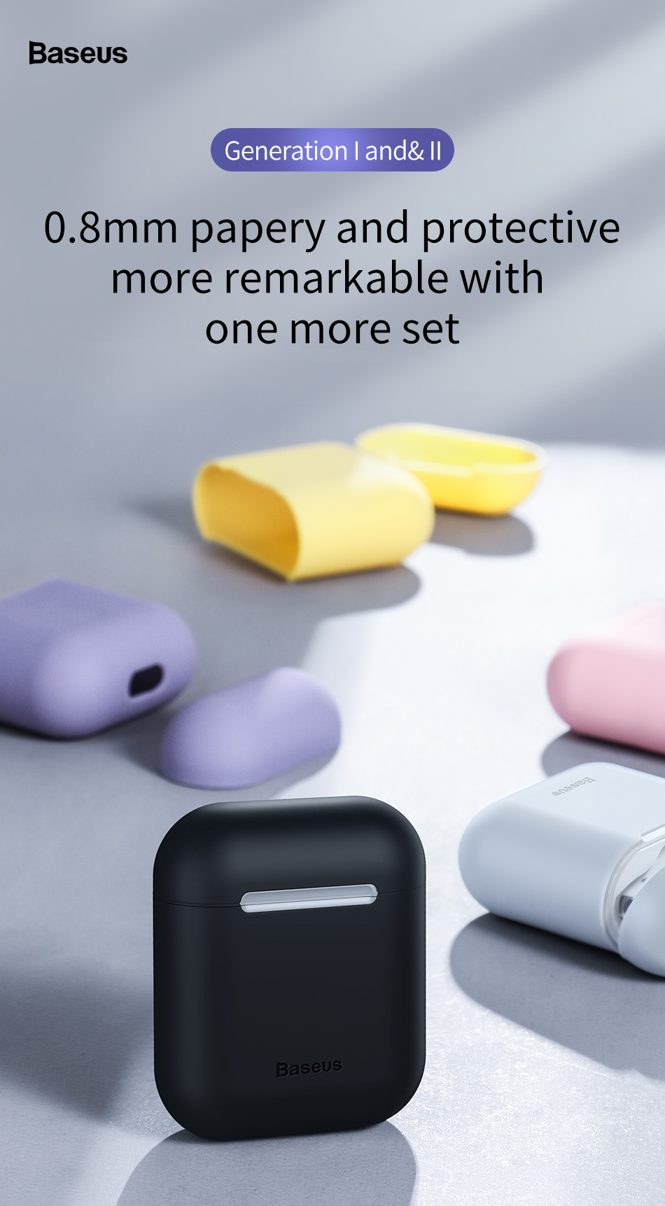 ASTROSOAR - Baseus Silicone Shockproof Protective Cover For AirPods 1/ 2 Case