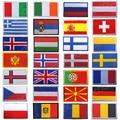 Вышитые нашивки, Россия, Германия, Словакия, Литва, Молдова, фарета, Македония, Черногория, Швейцария, Испания, Франция, флаги, значки