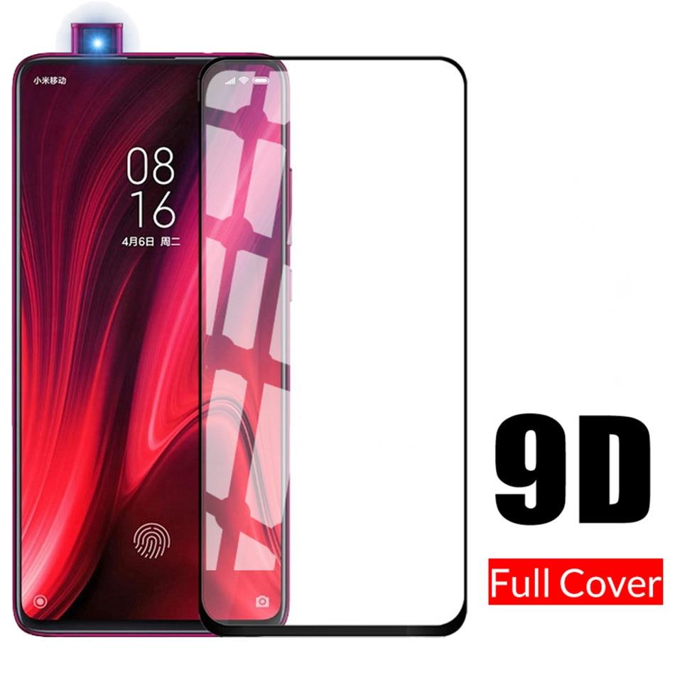 Для Xao mi 9 t mi 9 t pro mi CC9pro mi 9lite mi 9se mi 9 t mi A3 полное покрытие из закаленного стекла на красном mi K20 Pro Защитная пленка для экрана