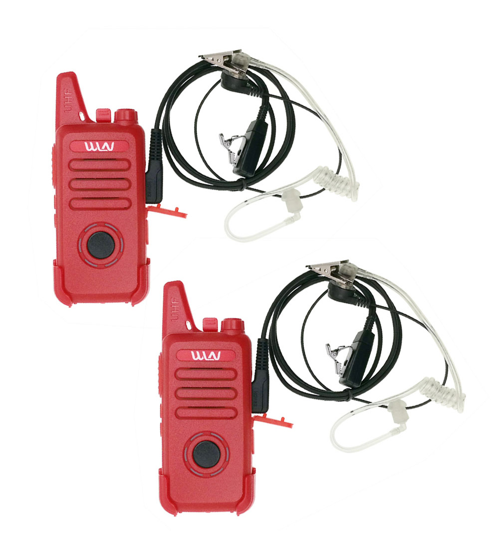 2pcs WLN KD-C1plusMini Walkie Talkie UHF 400-470 MHz With 16 Channels Two Way Radio FM Transceiver  KD-C1 Plus