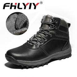 Botas de inverno Ao Ar Livre Homens Sapatos Masculinos Adulto Tornozelo Borracha Anti-Derrapagem Botas Homens Sapatos Casuais Calçado Zapatos De Hombre