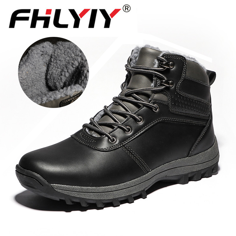 Winter Outdoor Boots Men Shoes Male Adult Casual Ankle Rubber Anti-Skidding Boots Men Shoes Footwear Zapatos De Hombre