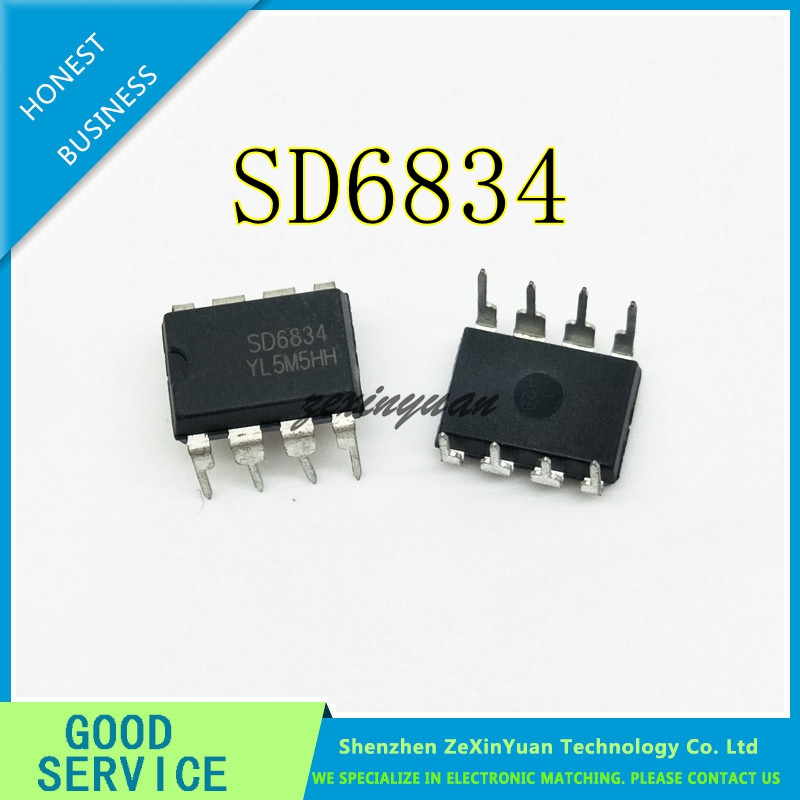 30PCS 50PCS 100PCS <font><b>SD6834B</b></font> SD6834 6834 DIP-8 LED liquid crystal power supply control chip image