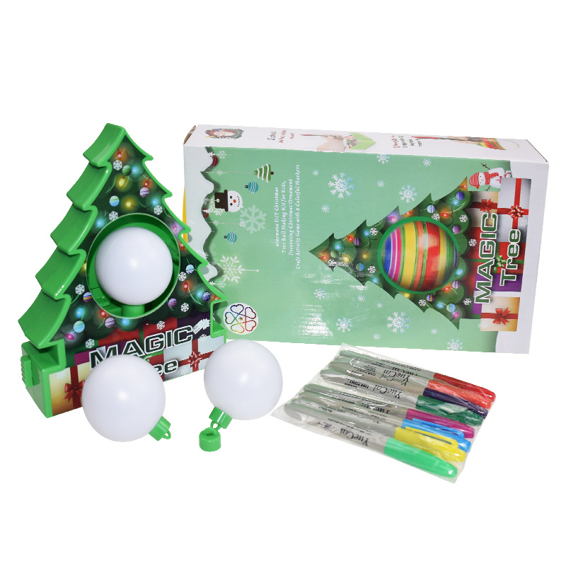 Image 4 - DIY Kids Drawing Toys Christmas Tree Decoration Balls Educational Craft Toy Set Home Decor Ornaments Egg Children Gifts-in Craft Toys from Toys & Hobbies