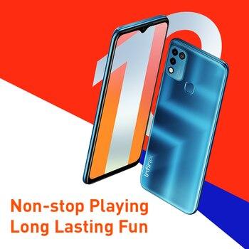 Infinix HOT 10 PLAY Global Version 2GB 32GB  4GB 64GB Smart Phone 6.82'' HD+ Display 6000mAh Helio G25 G35 MobilePhones 2