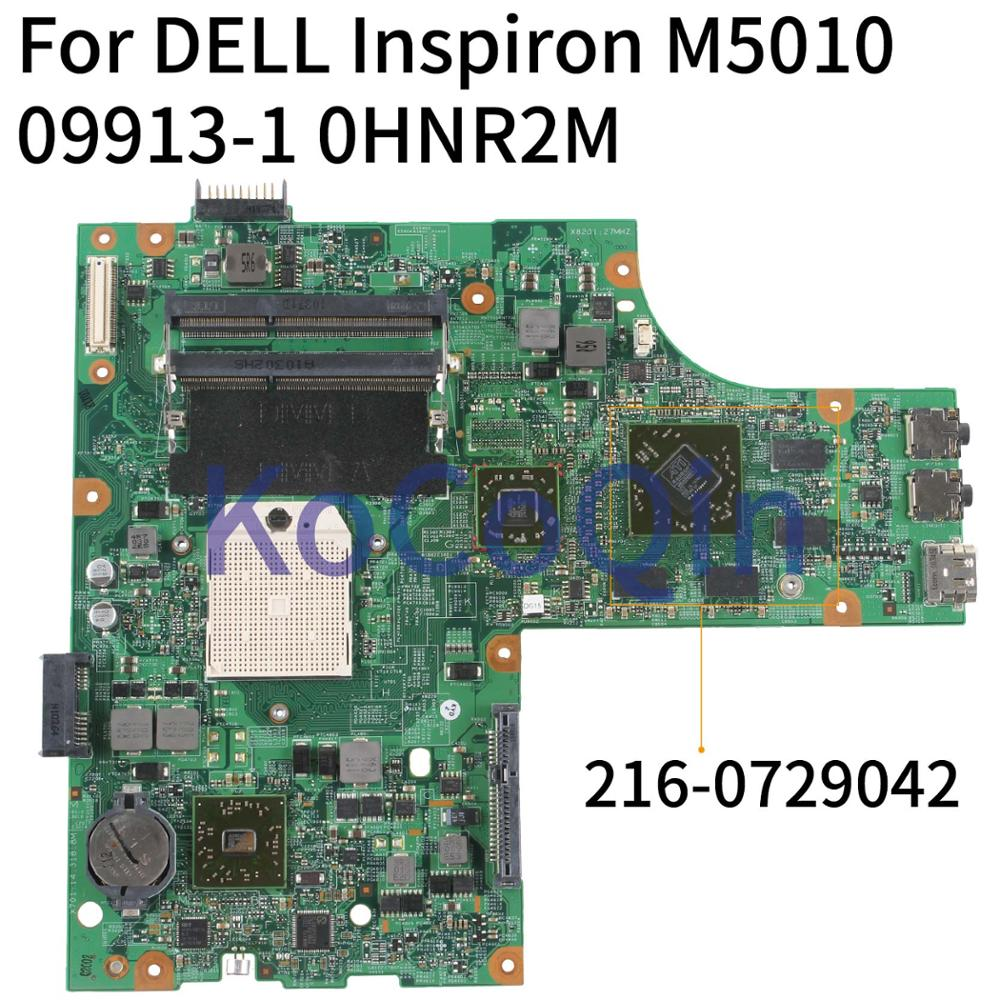 KoCoQin Laptop Motherboard For DELL Inspiron M5010 Mainboard CN-0HNR2M 0HNR2M 09913-1 48.4HH06.011 216-0729042