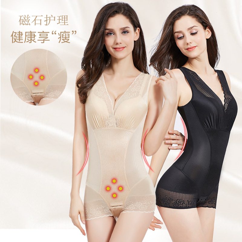 Beauty with the body of the body, sexy lace, one-piece underwear corset Body shaping, gathering, no trace, abdomen Adjustable