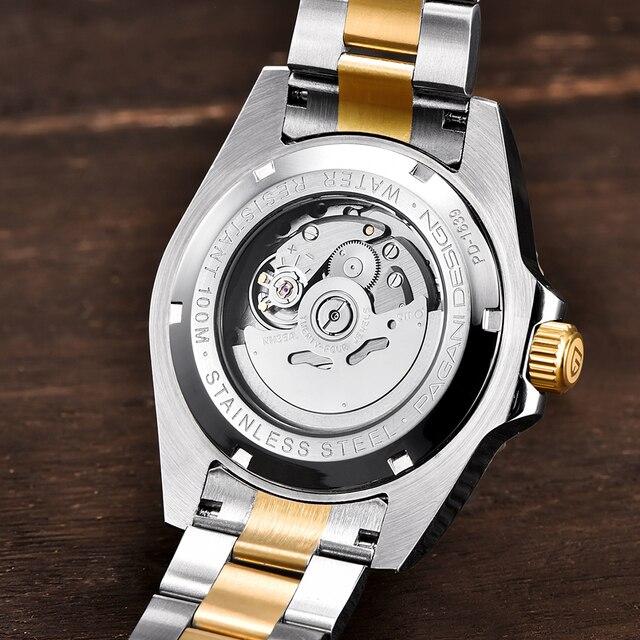 PAGANI Luxury Stainless Steel Waterproof Business Sport Mechanical Wristwatch 3